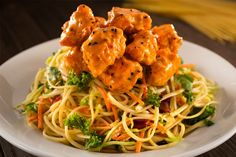 Bang Bang Chicken Spicy Thai Peanut Noodles  dave and busters