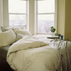 Big, cozy, fluffy bed