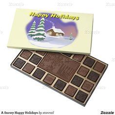A Snowy Happy Holidays 45 Piece Box Of Chocolates
