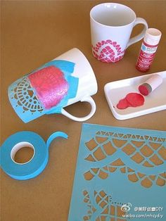 Papel picado Mugs-- Wedding Favor?