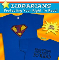 Awesome shirts! These would be great for all the staff! Have different themes days once a week or twice a month, makes the library fun and allows team building. Also gives the library a lighter air to it.