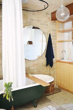hearth studio bath // i want a green clawfoot tub, please.
