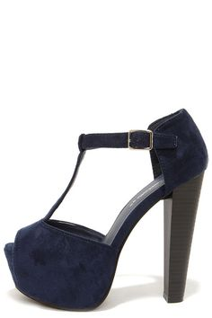 7b2caf4410 LOVE these peep-toe platforms with a crushed velvet look! Drool-worthy