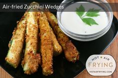 Air-fried Zucchini Wedges: Cook for 7 minutes; with tongs turn them over, and cook for another 7 minutes Frying zucchini Fried Zucchini Recipes, Zucchini Fries, Phillips Air Fryer, Power Air Fryer Recipes, Actifry Recipes, Cooking Recipes, Healthy Recipes, Oven Recipes, Air Frying
