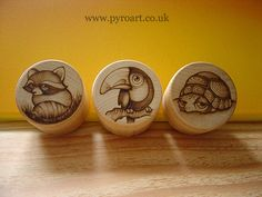 Wooden Pyrography Boxes