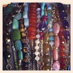 Semi-precious bracelets! 5% of proceeds goes to saving shelter animals from euthanasia.