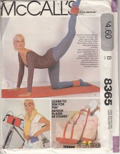 Vintage 80s UNCUT Sewing Pattern SPORTS by HoneymoonBus on Etsy, $10.99