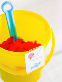 red Swedish fish as minnows! baby shark themed birthday party with free printables and ideas