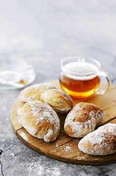 Cup Of Tea & good bread Sourdough Bun Recipe, Best Bread Recipe, Bread Recipes, Real Food Recipes, Baking Recipes, Yummy Food, Tasty, Salty Foods, Sweet And Salty