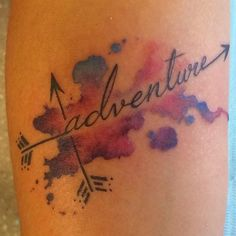 Little free hand water colour tattoo! #adventure #tattoo #freehandtattoo #customtattoo #