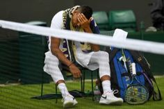 Nick Kyrgios was reportedly drinking in a local Wimbledon pub until 11 p. the night before his Rafael Nadal grudge match, Business Insider Jordan Thompson, Australian Newspapers, Grudge Match, Wimbledon 2017, Holding Court, Stan Wawrinka, Lawn Tennis, Tennis Clubs, Friends Laughing