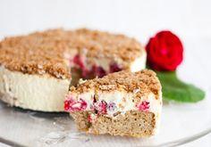 LowCarb Himbeer-Vanille-Kuchen mit Kokoskruste