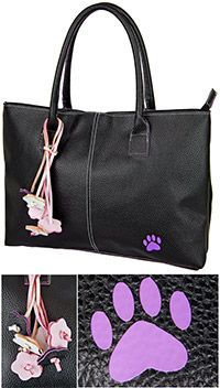 Purple Paw Bouquet Executive Bag at The Animal Rescue Site. All items you buy from this site funds at least 14 bowls of food for shelter animals in need of a home!!!