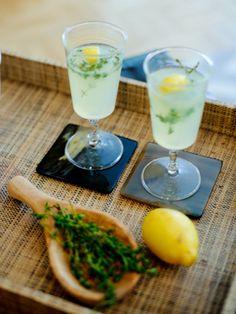 Vodka Thyme Lemonade Cocktail