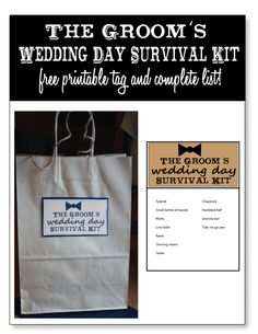 List Of Wedding Gift For Groom : 1000+ ideas about Groom Survival Kits on Pinterest The Groom ...