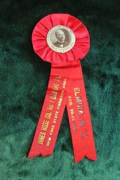 Innes Hose Co No 1 Canton PA NY State firemen Assoc Elmira NY Aug 1907 Ribbon   eBay