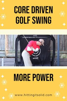 In this video, you'll learn how to make a core driven golf swing that's more efficient and more consistent around the golf course. Gain more distance and more accuracy with all of your shots. CLICK THE IMAGE to watch the video. #coredrivengolfswing #coregolfswing #uppercoregolfswing #golfcorerotation Golf Slice, Golf Books, Golf Chipping, Best Golf Courses, Golf Instruction, Golf Putting, Golf Exercises, Golf Training, Golf Lessons