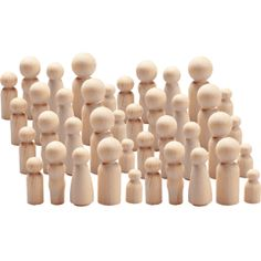 WOOD PEOPLE PACK OF 40