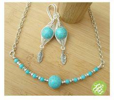 Turquoise bohemian jewelry set,summer jewelry set wire wrapped,turquoise wire jewelry,wire boho jewelry,hippie jewelry turquoise,wire choker