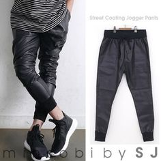minsobi-urban-classic Mens glossy fake leather pants (sj-bot-989607)