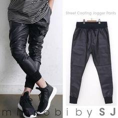 minsobi-urban-classic Mens glossy fake leather pants (sj-bot-989607)