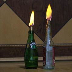 Tiki Torch Kit ,Torch Wicks and Brass Wick Mount ,Garden lights ,etc. inch ,bottle not included ) Tiki Torch Wicks, Wine Bottle Tiki Torch, Tiki Torches, Wicked, Brass, Kit, Lights, Copper, Witches