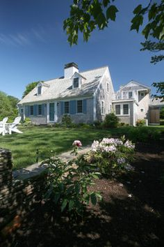 Grey Shingled Cape Cod Design Ideas, Pictures, Remodel, and Decor - page 126