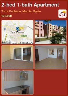 2-bed 1-bath Apartment in Torre Pacheco, Murcia, Spain ►€73,000 #PropertyForSaleInSpain