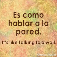 Spanish & English sayings. Spanish Help, Spanish Practice, Spanish Notes, Learn To Speak Spanish, Learn Spanish Online, Spanish Basics, Spanish Phrases, Spanish Grammar, Spanish Vocabulary