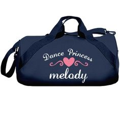 Melody | Great dance bag for all. Excellent quality, great colors to choose from and you can even customize it yourself to be your very own.