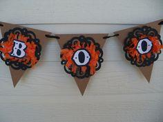 Boo Banner Halloween Decoration. $8.00, via Etsy.
