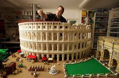 The Colosseum built out of Legos.