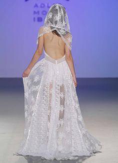 Novias by Charo Ruiz Fashion show at Pasarela Costura España, Madrid. In collaboration with: MENBUR Cherubina & Ani Burech