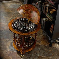 Italian Style Wine and Spirits Globe Bar at Wine Enthusiast - $595.00
