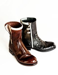 Alberto Fasciani Boots from Biker Collection  Entirely Handmade in Italy