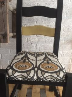 Overhauled chair in black and gold £80.00