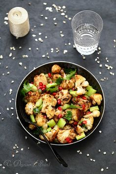 Roasted Cauliflower Salad inspired by Ottolenghi