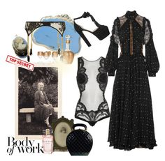 """""""Shush! It's a secret!"""" by juliabachmann ❤ liked on Polyvore featuring La Perla, Elie Saab, Chanel and Agent Provocateur"""