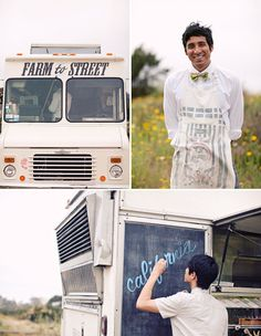 Hire your favorite food truck to serve apps or mid-night buffet at your wedding - chip truck for cottage wedding??