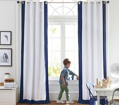 Go to our world-wide-web site for more relating to this stunning velvet drapes Boys Curtains, Drapes And Blinds, Curtains, Panel Curtains, Navy And White Curtains, White Rooms, White Curtains, Boys Room Curtains, Blackout Curtains