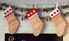 Cedar Lodge: Burlap Stockings