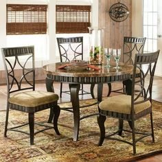 """Check out what I found at easyhome Furnishings: Steve Silver® """"Hamlyn"""" 5pc Round Dinette"""