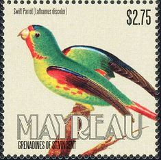 Swift Parrot stamps - mainly images - gallery format