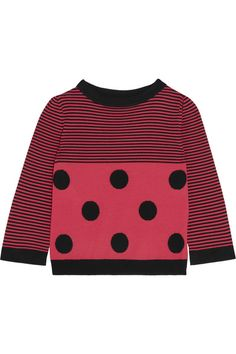 Boutique Moschino - Striped Wool Sweater - Fuchsia - IT38
