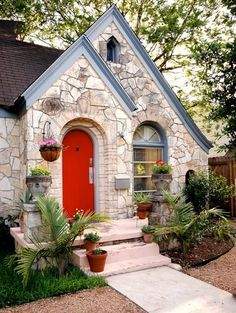 Cute little rock cottage.