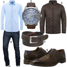 Business-Style mit Hemd, Jeans und Steppjacke (m0996) #hemd #diesel #uhr #steppjacke #jeans #business #gentlemen #outfit #style #fashion #ootd #herrenmode #männermode #outfit #style #fashion #menswear #mensfashion #inspiration #menstyle #inspiration