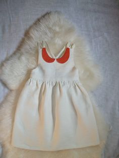 Natural Linen Dress with Peter Pan Collar. via Etsy.