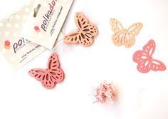 Mini borboleta de papel rosa #mini #butterfly #paper #festa #jardim #borboletas