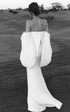 mod wedding gown