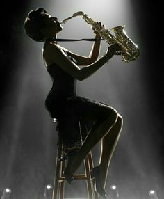 A Girl and Her Sax